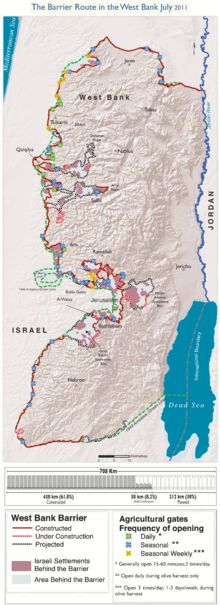 Israeli West Bank barrier - Wikipedia, the free encyclopedia