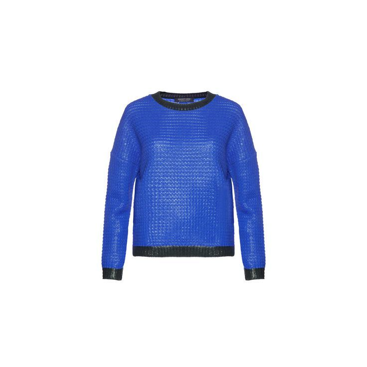Naughty Dog #FW1415 blue laminated tricot pull.