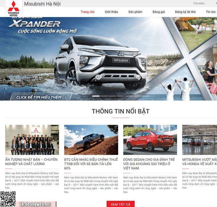 Mẫu web bán xe oto - Misubishi thumbnail