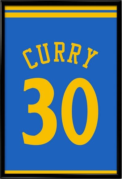 Stephen Curry Number 30 Golden State Warriors Jersey Art Print. Take a look at our Etsy store, choose your favourite item and use FATHERSDAY15 coupon code for Free shipping within US! #inspirational #quote #poster #mancave #fathersday #gift