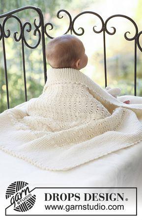 Princess Chantilly / DROPS Baby 18-30 - Gestrickte Decke für Babys ...