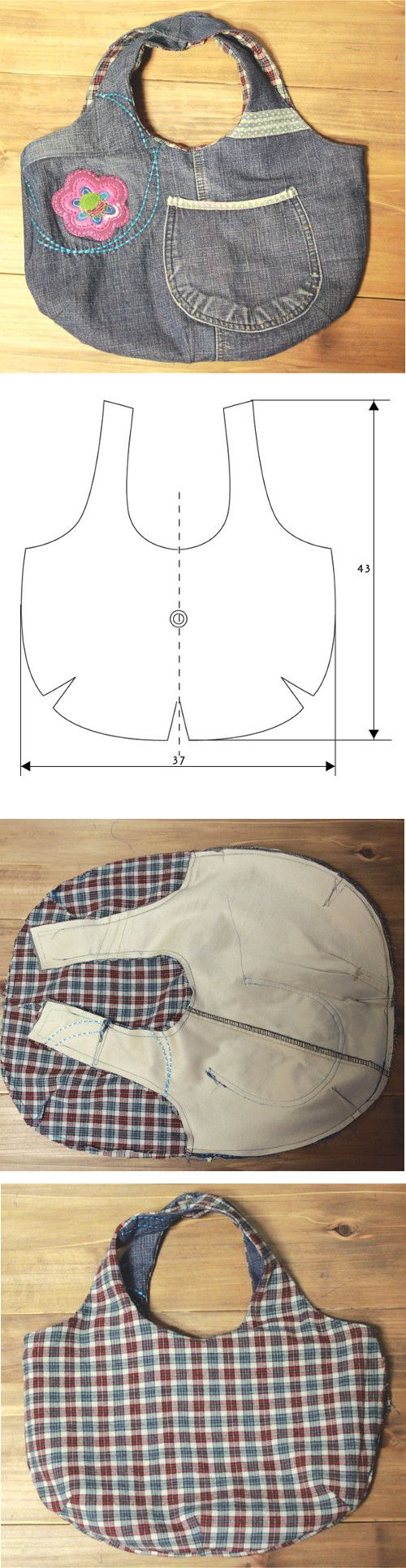 Easy Jeans Step to Step Bag http://fastmade.blogspot.com/2016/12/step-to-step-jeans-bag-tutorial.html