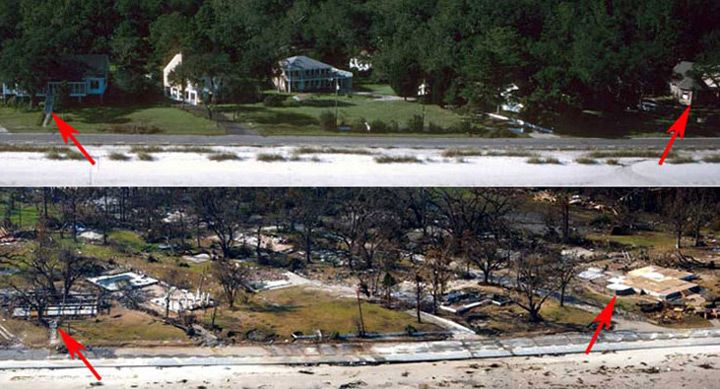 Bay St. Louis Before and After Katrina Photos