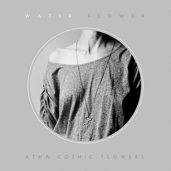 ATMA  Cosmic Flowers // WATER FLOWER  Silver amulet