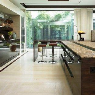 Gloss Walnut Kitchen designed by Candi Kitchens