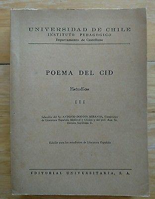 Poema Del Cid Estudios III _ Study of Poem of the Cid In Spanish