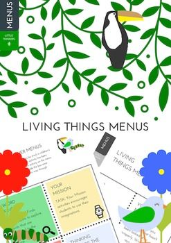 Living Things Menus