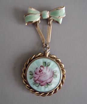 antique guilloché baby hair keepsake locket