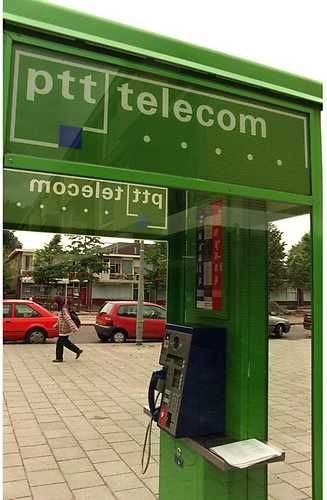 Old Dutch telephone booth of the PTT-Telecom.