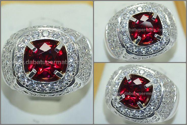 Code:RGR 005  Nama:RED GARNET  Asal/Origin:Sri Lanka  Berat Batu:est 3 ct  Berat Total:11 gr  Size/Ukuran:8 x 8 x 5.1 mm