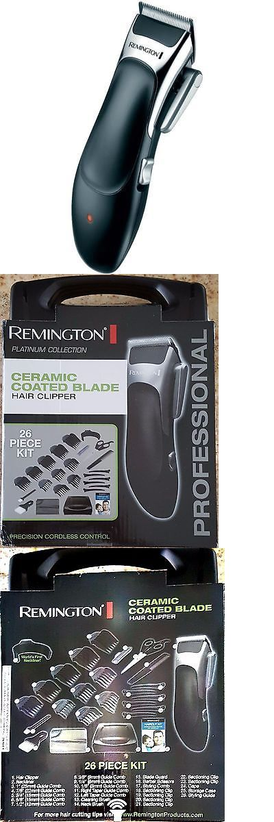 Other Shaving and Hair Removal: Remington Hair Clipper Kit With Ceramic Coated Blade (Platinum Collection) BUY IT NOW ONLY: $69.24