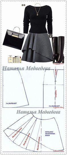 Layered circle skirt pattern drafting More