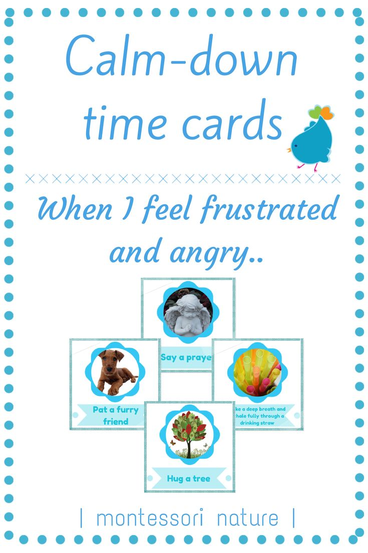 Calm Down Time Cards | Strategies to manage frustration and anger | Printables | Montessori Nature Blog