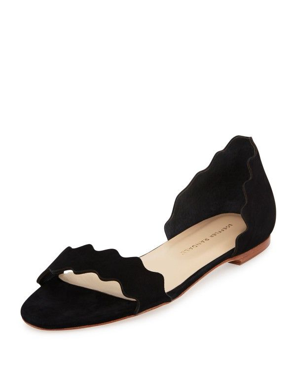 Loeffler Randall Woman Pearl Lace-up Embellished Leather Ballet Flats Black Size 11 Loeffler Randall