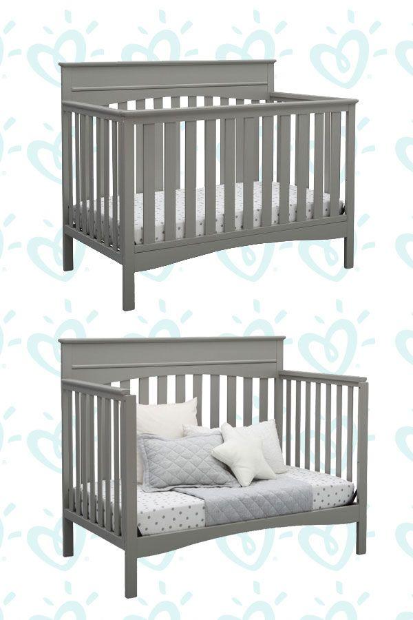 Delta Children Skylar 4 In 1 Convertible Crib Greenguard Gold Certified Cribs Baby Cribs Convertible Baby Cribs Baby crib that converts to toddler bed
