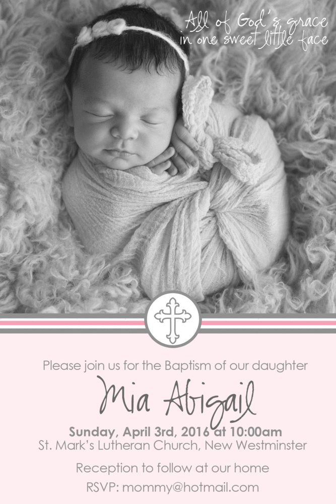 22 best baptism invitations images on pinterest christening cross baptism invitation girl stopboris Gallery