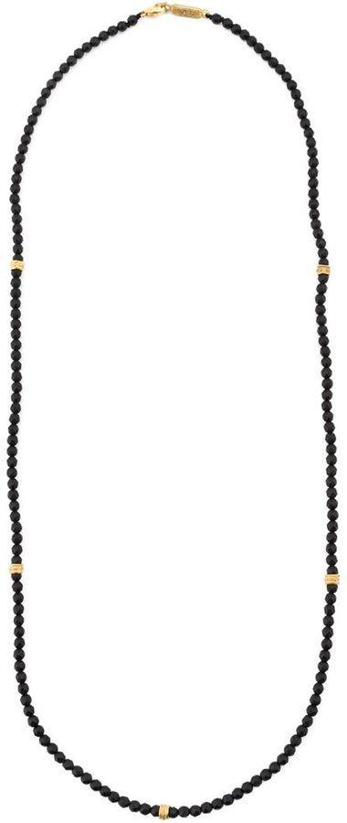 Roman Paul onyx bead necklace - Men
