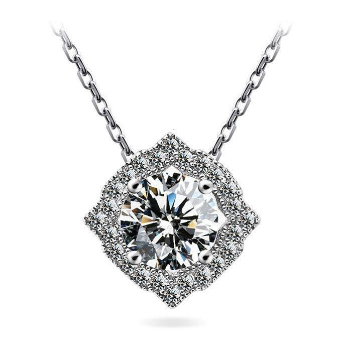Мерцание бриллиантовое колье 1 карат алмазов вышитый бисером ожерелье платины покрытием мода ожерелье