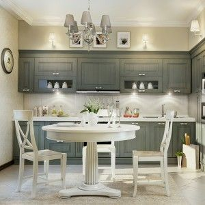 Grey Traditional Kitchen