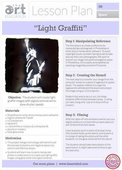Light Graffiti: Free Lesson Plan Download