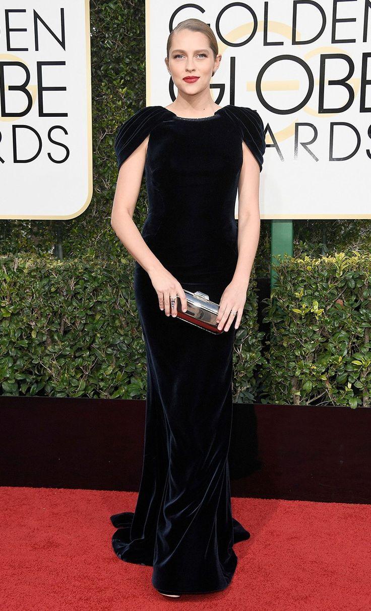 Тереза Палмер в Armani Privé, туфли Sophia Webster на церемонии вручения наград премии «Золотой глобус» в Лос-Анджелесе, 08 января 2017 г.