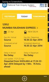Indian Railways Launches The National Train Enquiry System (NTES) App screenshot 2