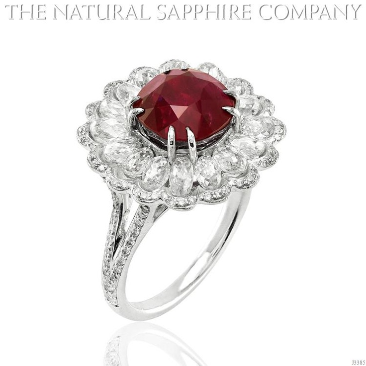 Natural Ruby Ring Gold Jewelry J3385 Side