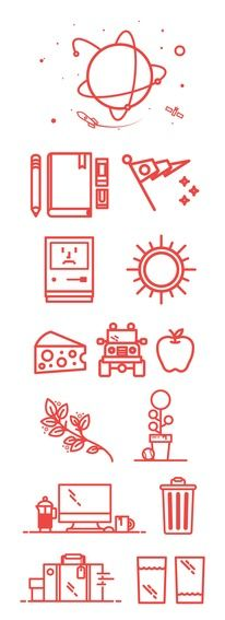 Icons / Space exploration icons — Designspiration