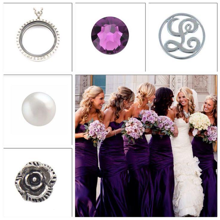 Purple theme and monogram.