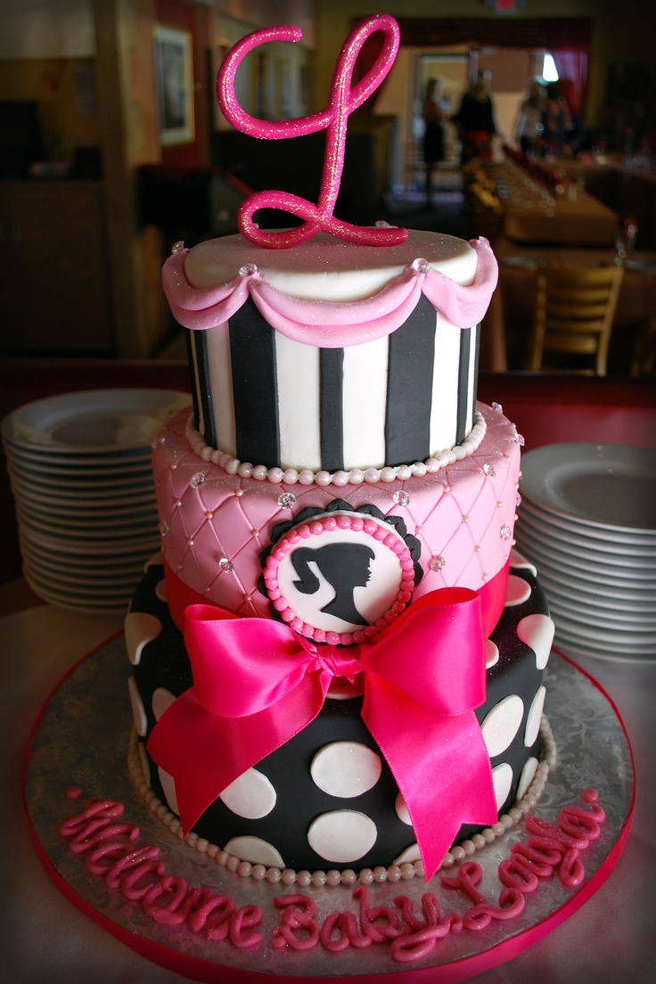 Cutest cake ever! Barbie. Polk a dot.