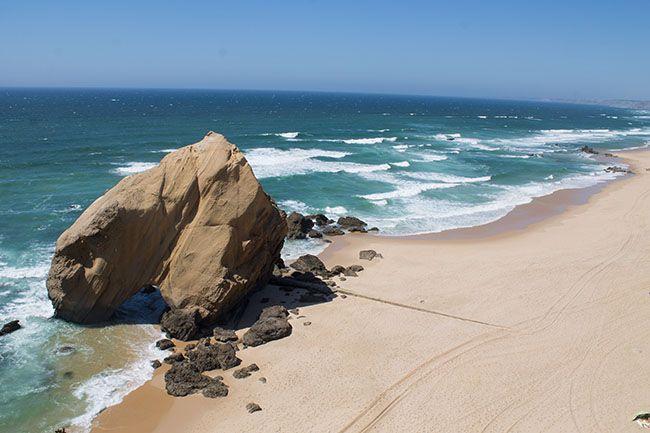 Praia de Santa Cruz em Torres Vedras, Portugal