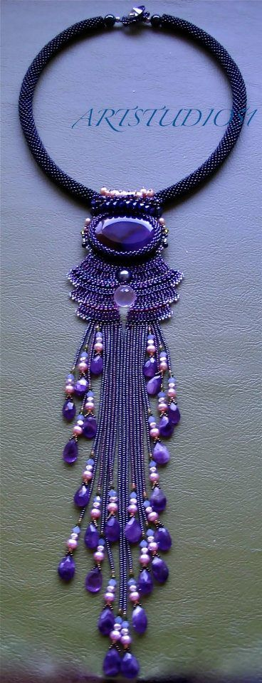 Very pretty beaded necklace.