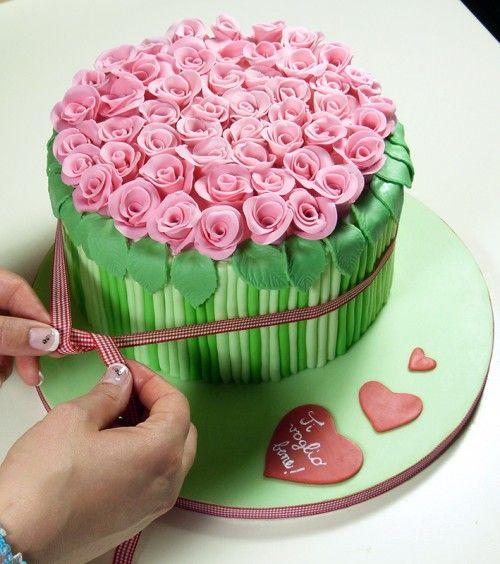 torta fatta come un mazzo di fiori - Cerca con Google