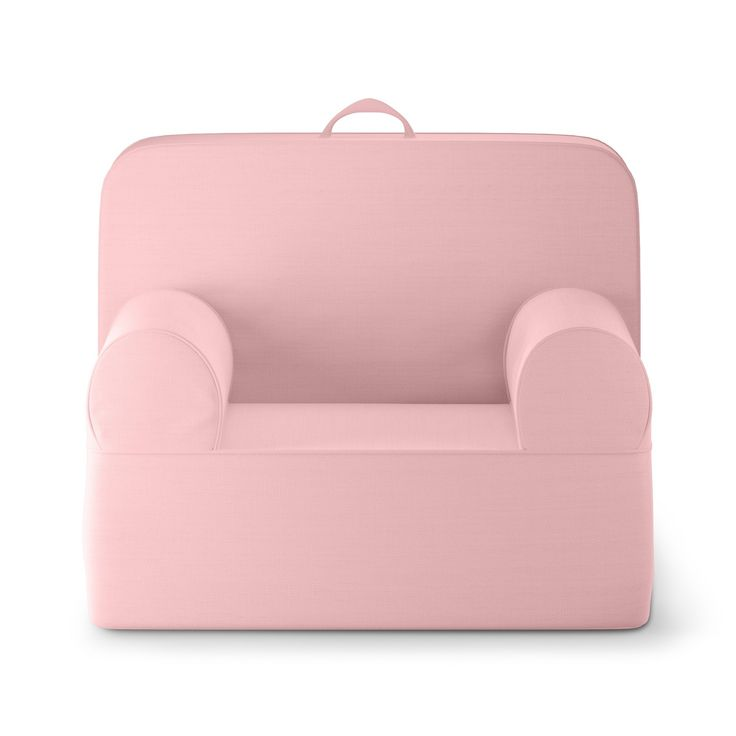 "• Super-comfy, foam-filled chair<br>• Covered in snuggly-soft polyester fabric<br>• For children ages 3 and up<br>• A modern twist on the traditional bean bag chair<br>• Great for living rooms or play rooms<br>• Dimensions: 25"" H x 21"" W x 21.5"" D<br><br>The Pillowfort Luna Lounger is just perfect for young children who have reached the point where they want a chair that loo..."
