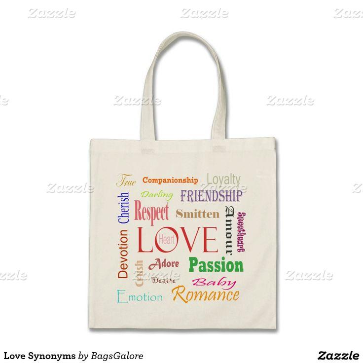 Love Synonyms Budget Tote Bag | Blue tote bag, Purple tote ...