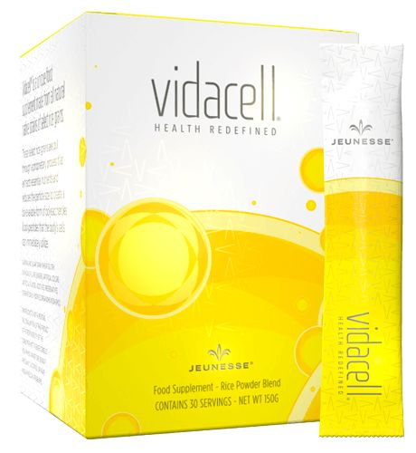 """Vidacell is a unique, functional food that helps to fight the """"cellular aging process"""" by providing the essential nutrients necessary to protect, repair and renew the body at a cellular level."""