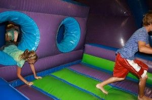 One of many indoor bounce houses at Jump Mania.