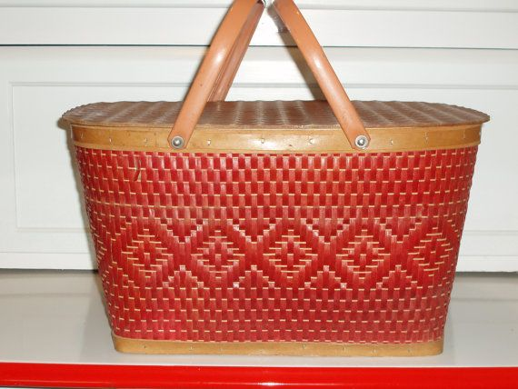 I would love to find a Vintage Picnic Basket in red!