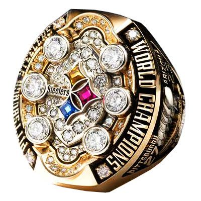 2009 Pittsburgh Steelers Super Bowl Championship Ring-The BLING has changed since 1974 :)