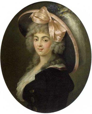 Portrait de Mademoiselle Duthé, late 18th C attributed to Henri-Pierre Danloux (1753-1809)