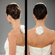 Bridal hairstyling.