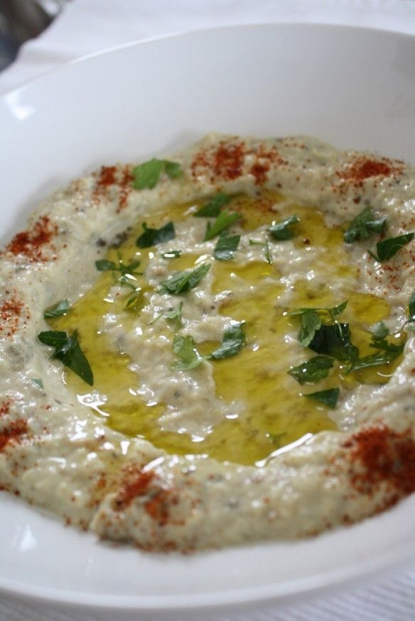 recipe for Moutabal (eggplant) dip. great recipe!  from http://bennydoro.com/chef/recipes/moutabal-roasted-eggplant-dip/
