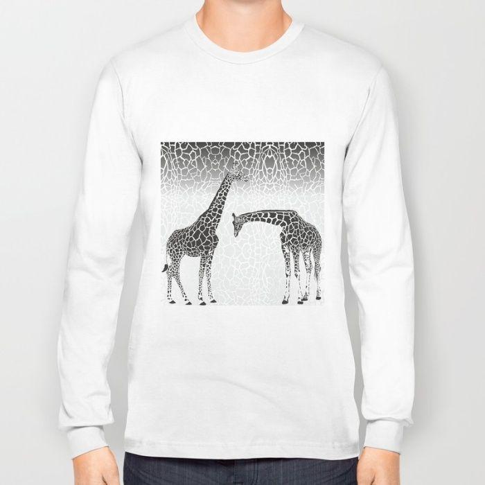 Giraffe patterns for wallpaper Long Sleeve T-shirt