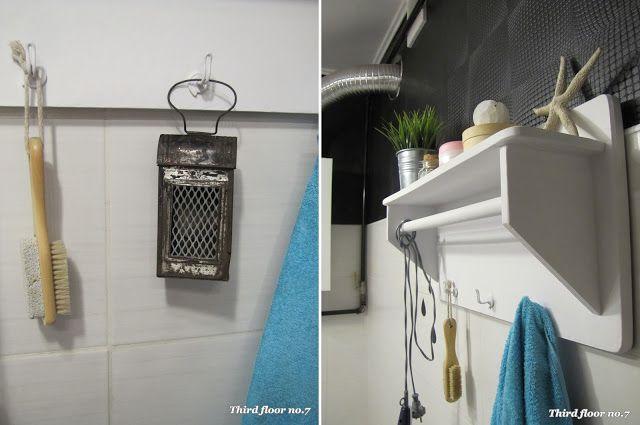 Półka na ręczniki lata 60-te prawdopodobnie ze starej wodniarki.
