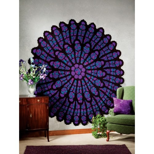 Free Crochet Pattern For Cathedral Window Afghan : 1000+ images about Cathedral rose window afghan (crochet ...