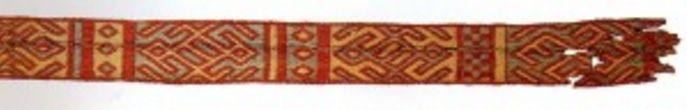 Fragment of Merovingian card weaving from France, 7th century