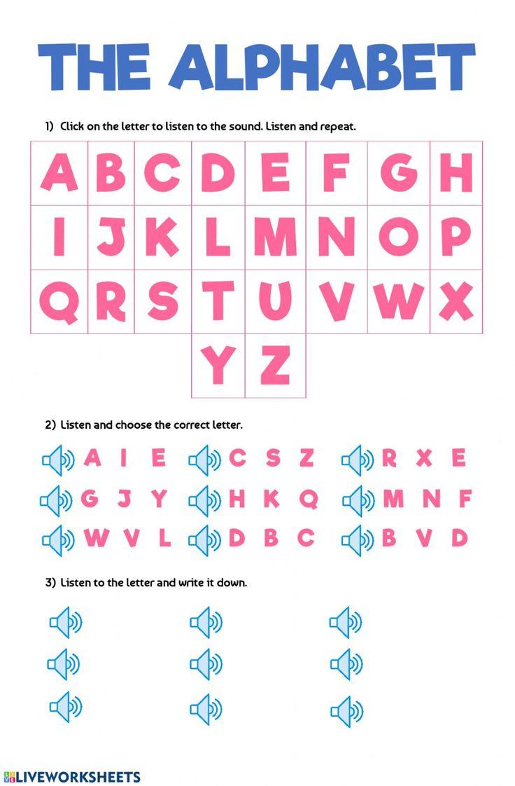 The alphabet English as a Second Language (ESL) worksheet