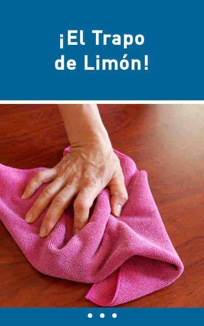 Con este trapo de limpieza casero vas a tener la casa sin polvo más tiempo. ¡El Trapo de Limón! #limpieza #casa #trucos