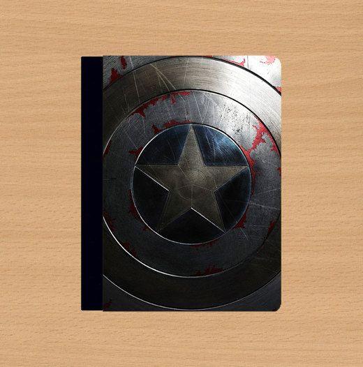 Captain America Shield iPad 2 case,iPad Air case,iPad Air cover,iPad 2 cover,ipad 3 case,iPad 3 cover,ipad 4 case,ipad 4 cover,in leather. by Doublestarstar, $48.99