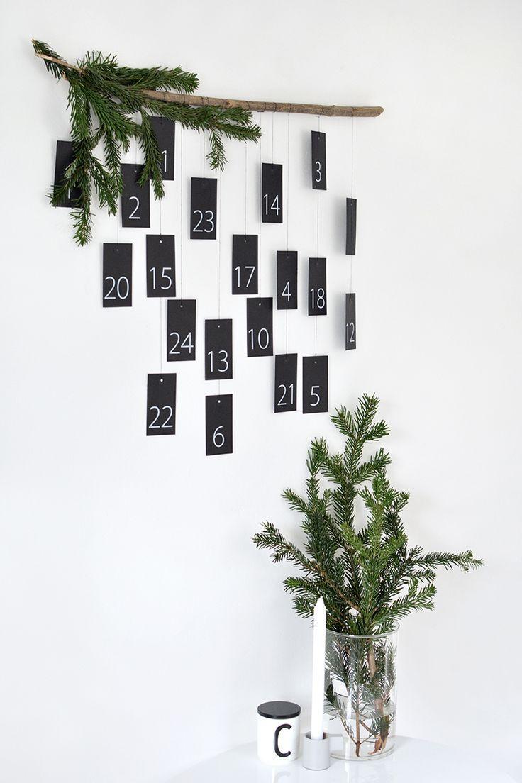 Diy Modern Advent Calendar Minimalist Christmas Easy Holiday Diy Winter Decorations Diy